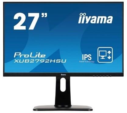 27iWIDE LCD 1920 x 1080 IPS Technology LED Bl. USB-Hub (2xOut) Pivot Height Adjust. 250 cd/m2 80.000.000:1 ACR SpeakersDisplayPort HDMI VGA 4ms