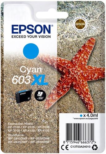 INKCARTRIDGE EPSON 603XL T03A2 BLAUW 1 Stuk