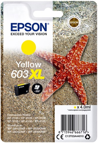 INKCARTRIDGE EPSON 603XL T03A4 GEEL 1 Stuk