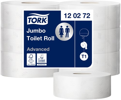 TOILETPAPIER TORK T1 ADVANCED 2LAAGS JUMBO 120272 6 Rol