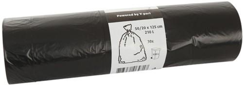 AFVALZAK CONTAINER CLEANINQ 50/20X125X0.012 ZWART 1 Rol