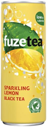 Frisdrank Fuze Tea sparkling lemon 250ml 25 Centiliter