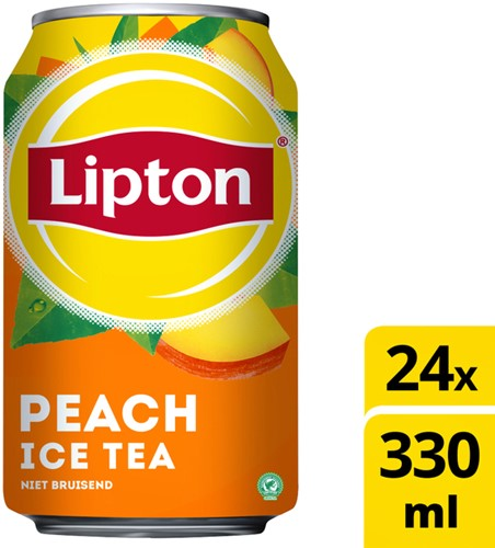 FRISDRANK LIPTON ICE TEA PEACH BLIKJE 0.33L 33 Centiliter