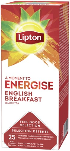 THEE LIPTON ENERGISE ENGLISH BREAKFAST 1.5GR 25 Stuk