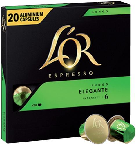 Koffiecups Douwe Egberts L'Or Espresso Elegante 20 Stuk